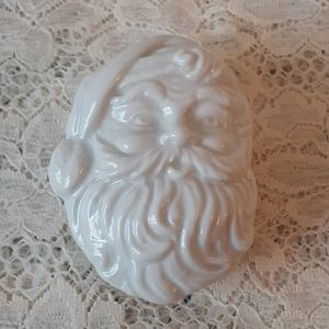 Vintage Santa Claus Head Christmas Trinket Box